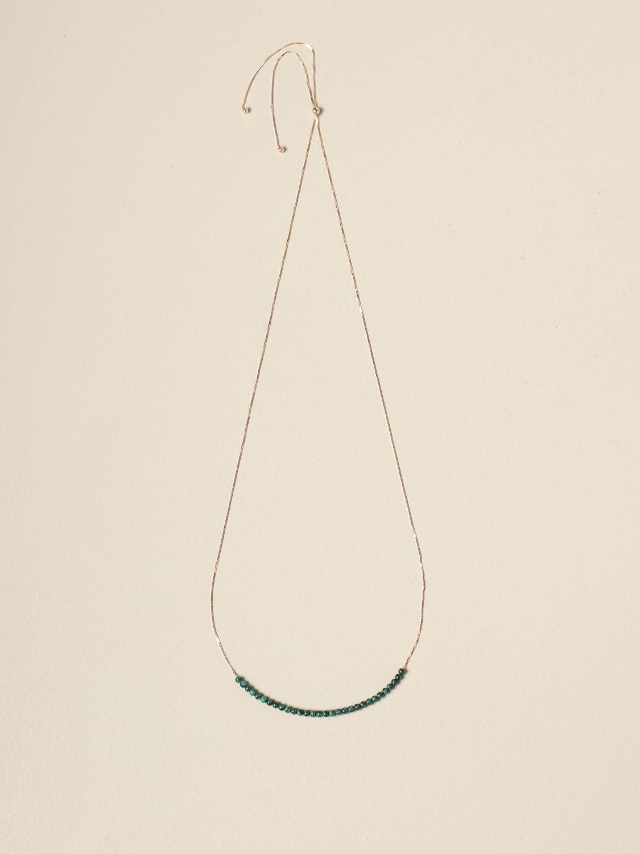 Gioielli Bottega Veneta: Collana Bottega Veneta con piccole sfere verde 1