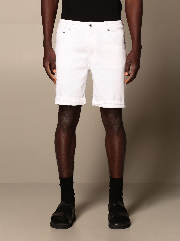 Pantalones cortos Dondup: Pantalones cortos hombre Dondup blanco 1