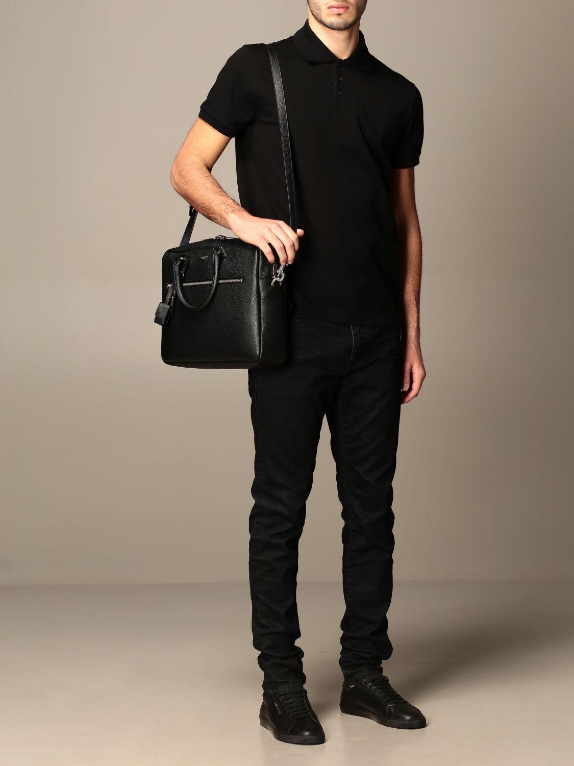 Polo Saint Laurent: Polo hombre Saint Laurent negro 2