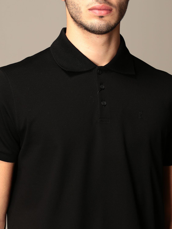 Polo Saint Laurent: Polo hombre Saint Laurent negro 5