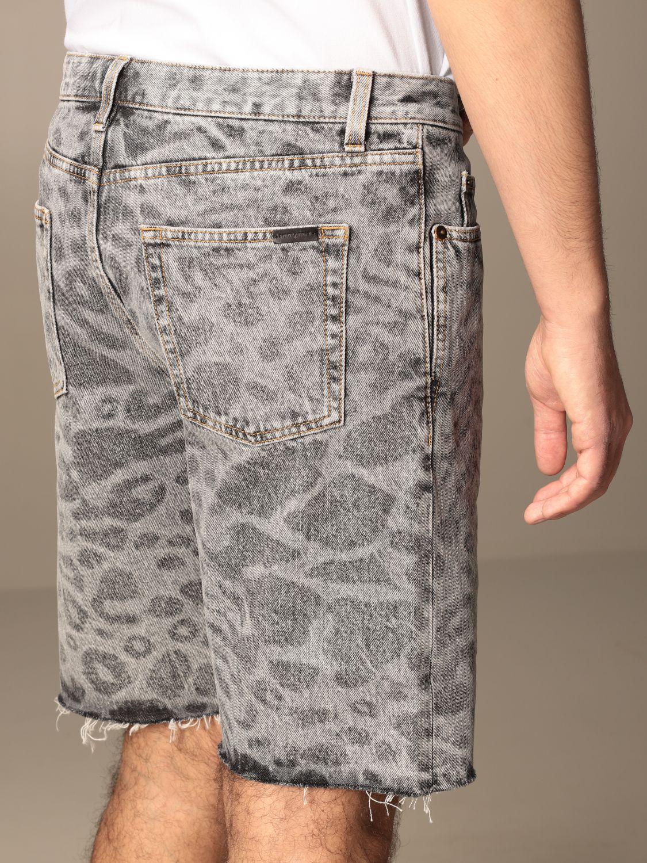 Pantalones cortos Saint Laurent: Pantalones cortos hombre Saint Laurent denim 4