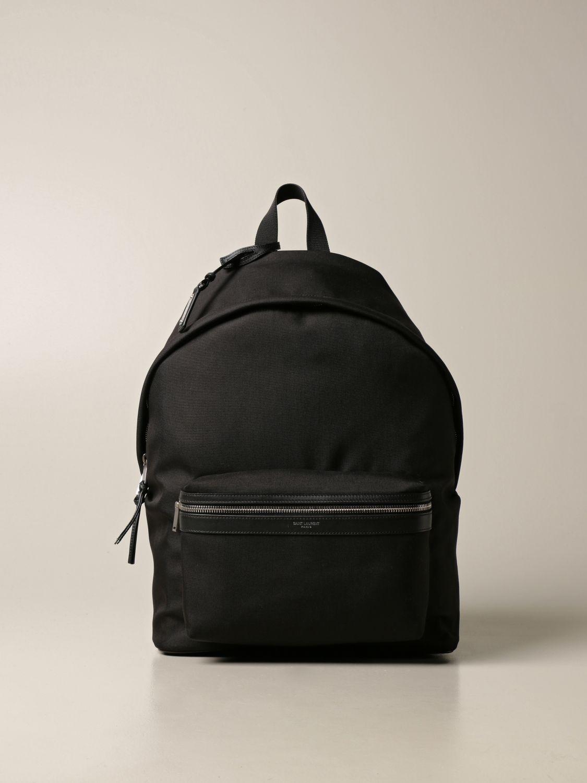 Backpack Saint Laurent: City Saint Laurent backpack in nylon canvas black 1