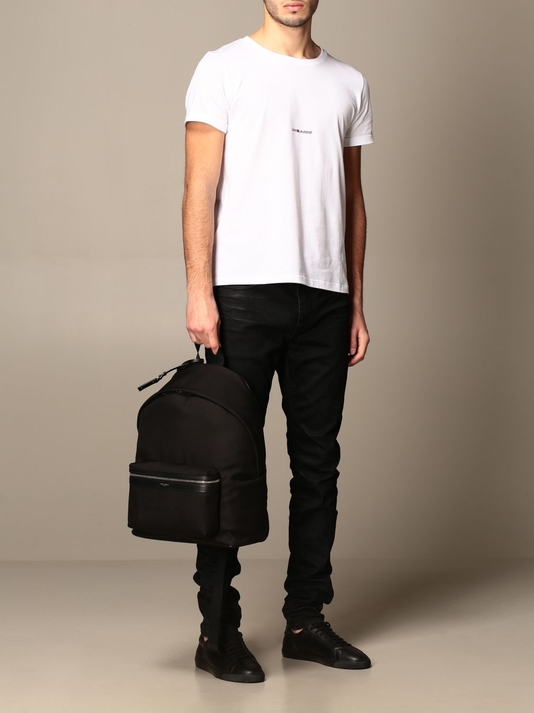 Backpack Saint Laurent: City Saint Laurent backpack in nylon canvas black 2