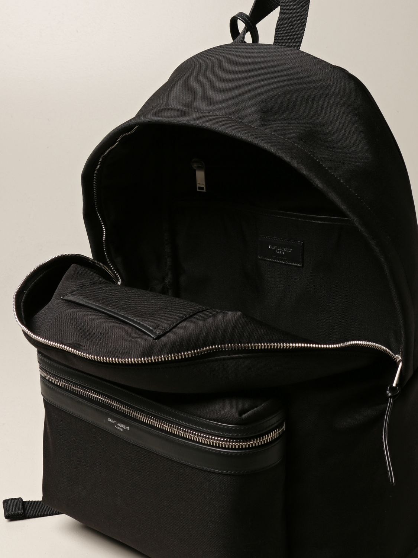 Backpack Saint Laurent: City Saint Laurent backpack in nylon canvas black 5