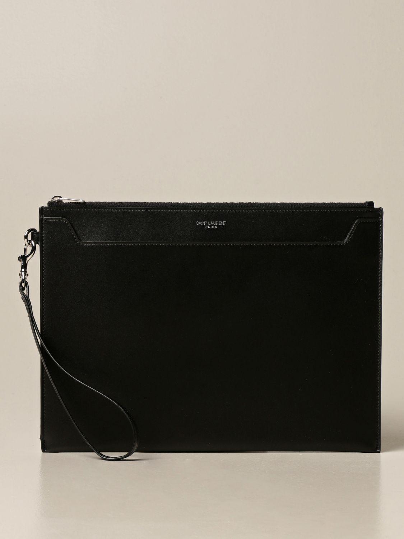 Portadocumenti Saint Laurent: Pochette Saint Laurent in pelle nero 1