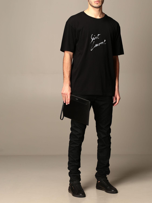 Portadocumenti Saint Laurent: Pochette Saint Laurent in pelle nero 2