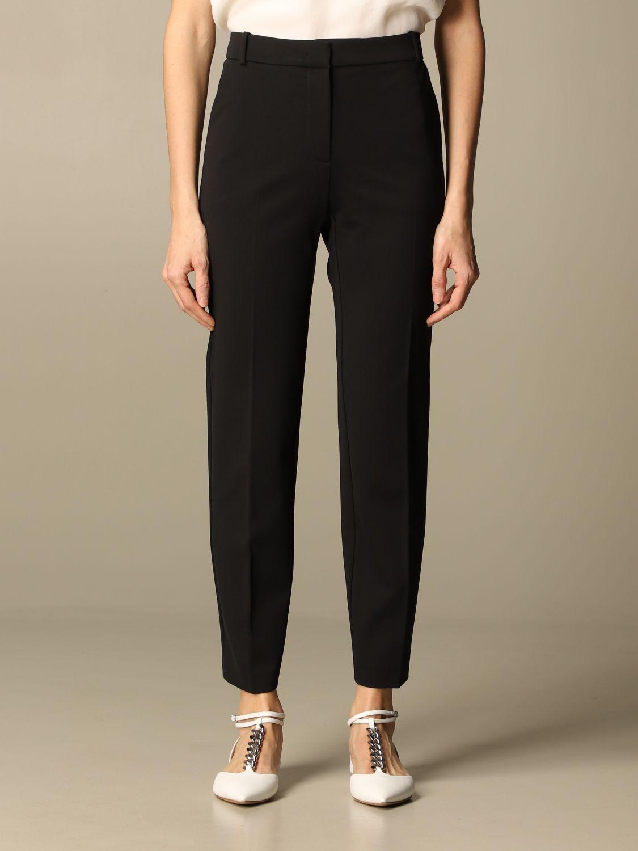 Pantalone Pinko: Pantalone Bello 100 Pinko in punto stoffa scuba nero 1