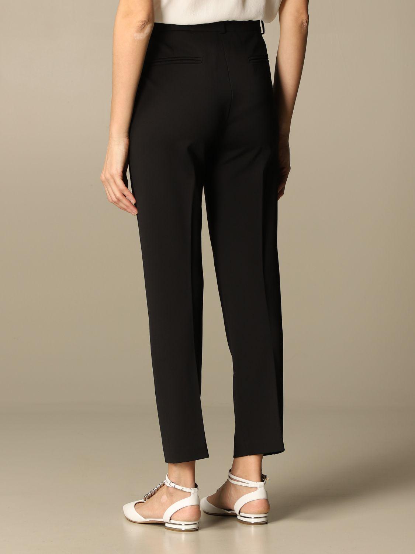 Pantalone Pinko: Pantalone Bello 100 Pinko in punto stoffa scuba nero 2