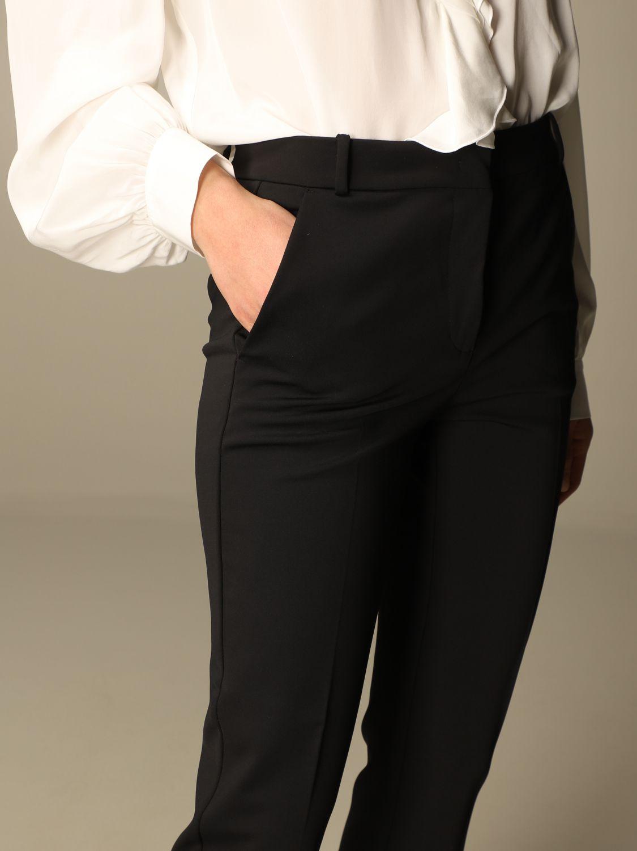 Pantalone Pinko: Pantalone Bello 100 Pinko in punto stoffa scuba nero 4