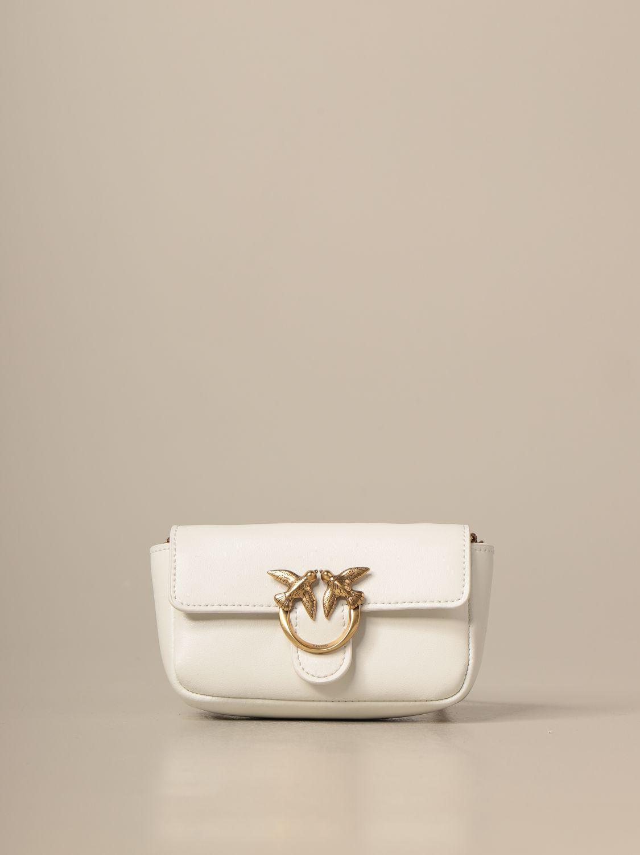 Mini bolso Pinko: Bolso de hombro mujer Pinko blanco 1