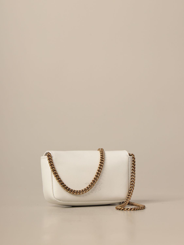 Mini bolso Pinko: Bolso de hombro mujer Pinko blanco 2