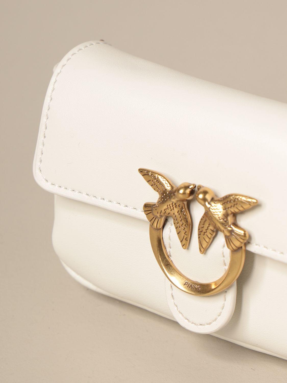 Mini bolso Pinko: Bolso de hombro mujer Pinko blanco 3