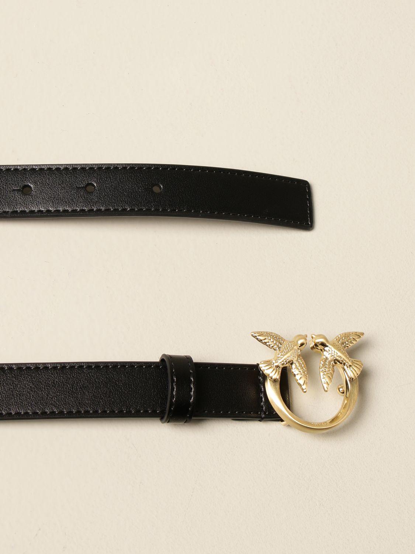 Cintura Pinko: Cintura Love berry simply small Pinko in pelle nero 2