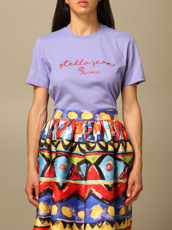 T-Shirt Stella Jean: T-shirt women Stella Jean lilac 1