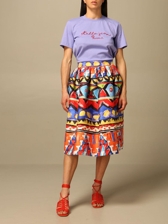 T-Shirt Stella Jean: T-shirt women Stella Jean lilac 2