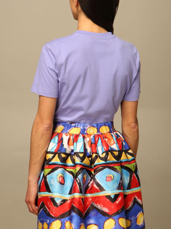 T-Shirt Stella Jean: T-shirt women Stella Jean lilac 3