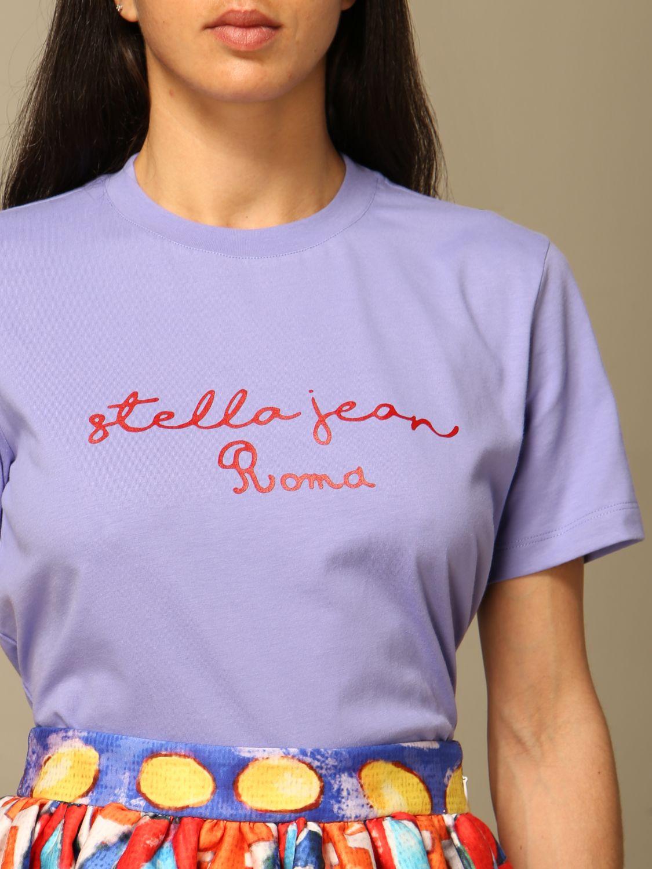 T-Shirt Stella Jean: T-shirt women Stella Jean lilac 5