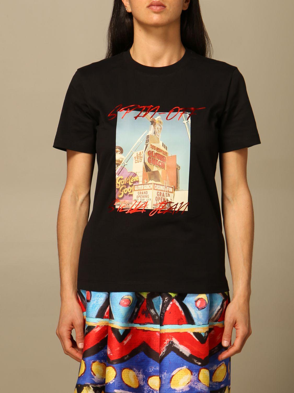 T-Shirt Stella Jean: T-shirt women Stella Jean black 1