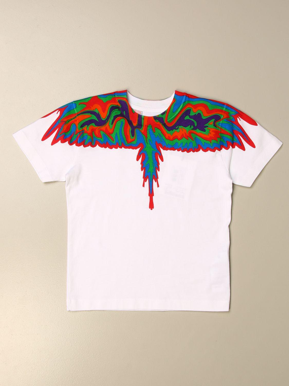 T-shirt Marcelo Burlon: T-shirt Marcelo Burlon in cotone con piume di uccelli bianco 1