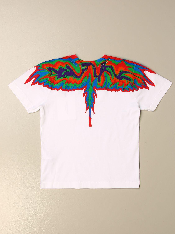T-shirt Marcelo Burlon: T-shirt Marcelo Burlon in cotone con piume di uccelli bianco 2
