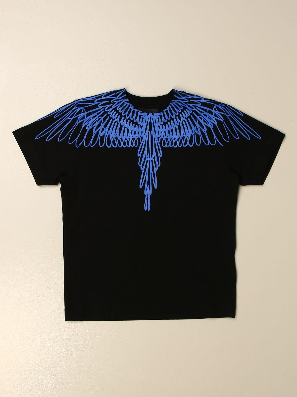 T-shirt Marcelo Burlon: T-shirt Marcelo Burlon in cotone con piume di uccelli nero 1