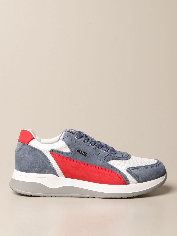 Sneakers Paciotti 4Us: Sneakers Paciotti 4US in camoscio e mesh blue 1