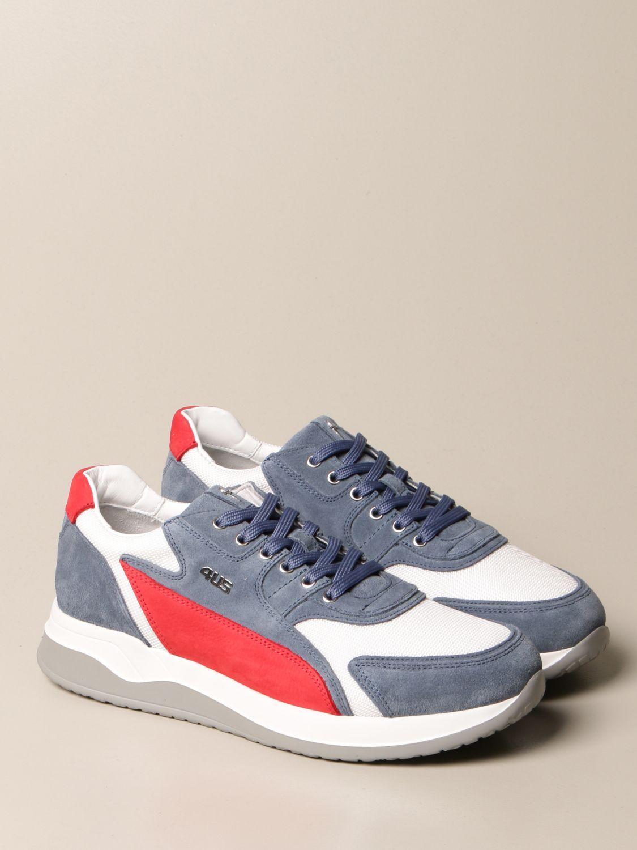 Sneakers Paciotti 4Us: Sneakers Paciotti 4US in camoscio e mesh blue 2