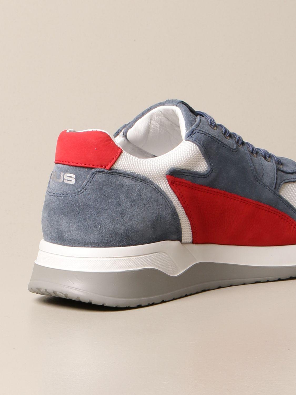 Sneakers Paciotti 4Us: Sneakers Paciotti 4US in camoscio e mesh blue 3