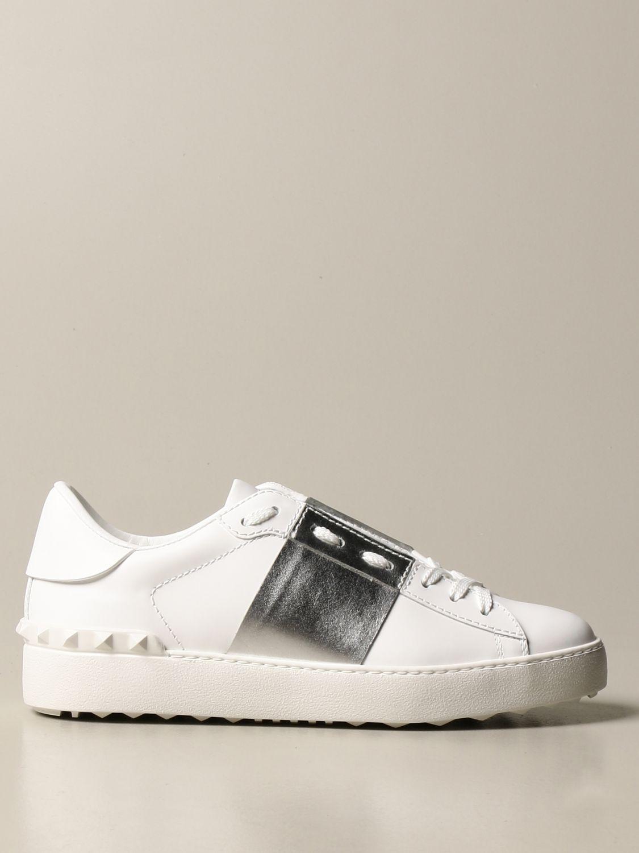 Sneakers Valentino Garavani: Sneakers Open Valentino Garavani in pelle con borchie argento 1