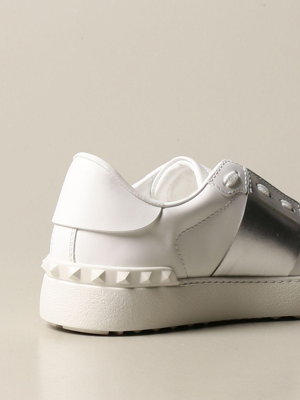 Sneakers Valentino Garavani: Sneakers Open Valentino Garavani in pelle con borchie argento 3