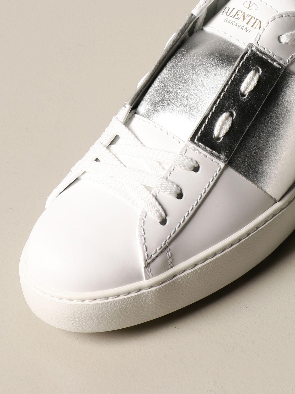 Sneakers Valentino Garavani: Sneakers Open Valentino Garavani in pelle con borchie argento 4