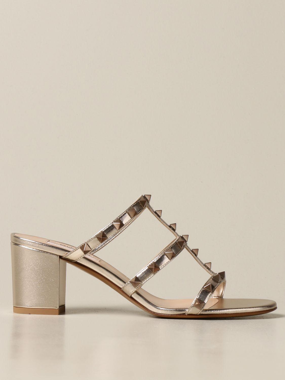 Heeled sandals Valentino Garavani: Shoes women Valentino Garavani gold 1