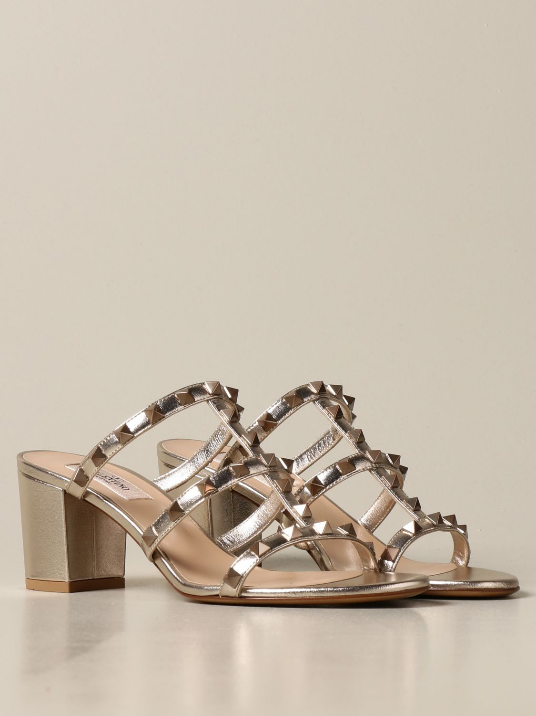 Heeled sandals Valentino Garavani: Shoes women Valentino Garavani gold 2