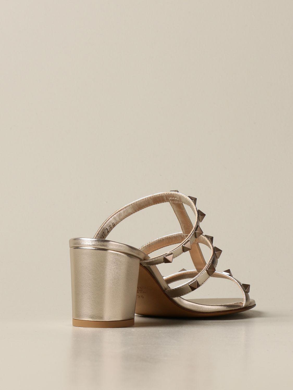 Heeled sandals Valentino Garavani: Shoes women Valentino Garavani gold 3