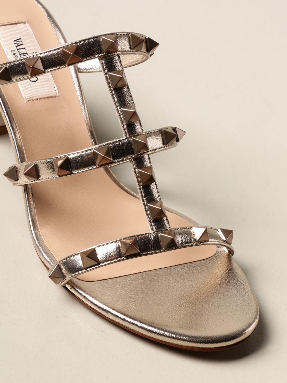 Heeled sandals Valentino Garavani: Shoes women Valentino Garavani gold 4