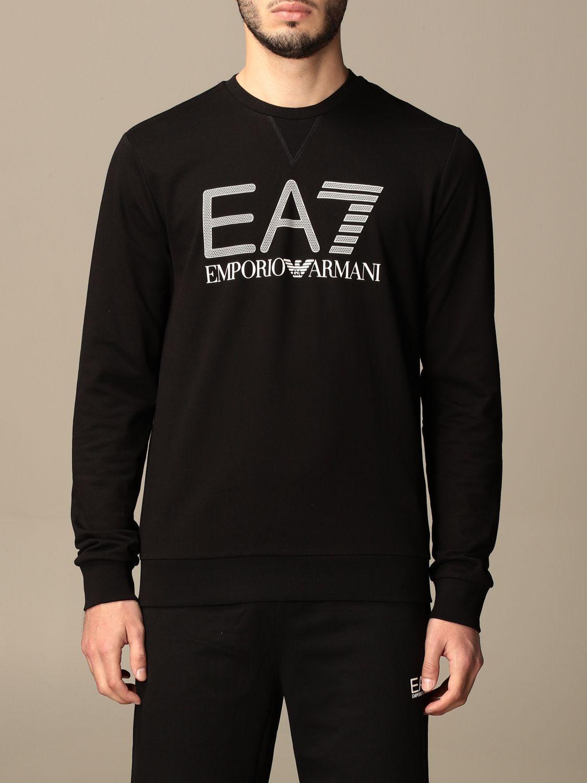 Sweatshirt Ea7: Sweatshirt homme Ea7 noir 1