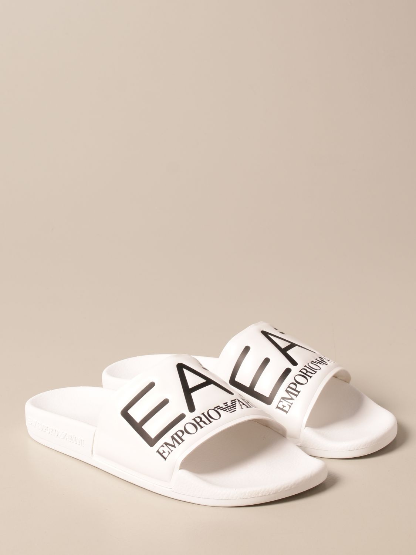 Sandals Ea7: EA7 rubber sandal with logo white 2