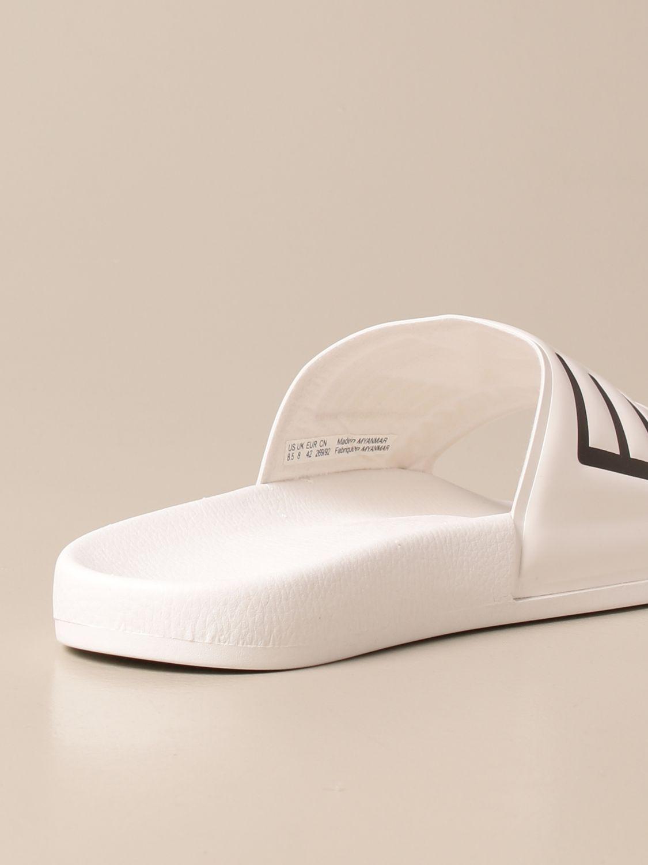 Sandals Ea7: EA7 rubber sandal with logo white 3