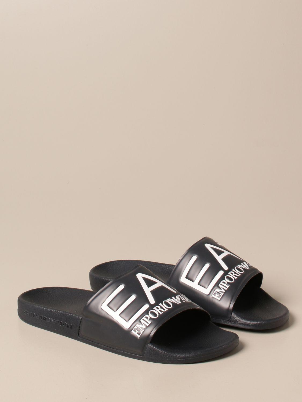 Sandalias Ea7: Zapatos hombre Ea7 azul oscuro 2