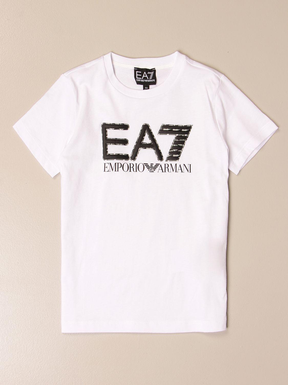T-shirt Ea7: EA7 cotton T-shirt with logo print white 1