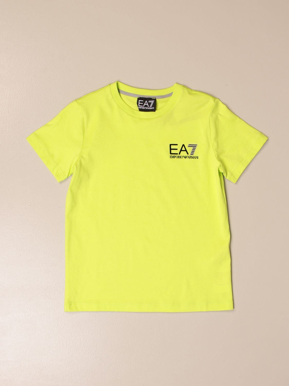 T-shirt Ea7: EA7 cotton T-shirt with logo print acid green 1