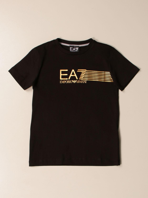 T-shirt Ea7: EA7 cotton T-shirt with logo print black 1