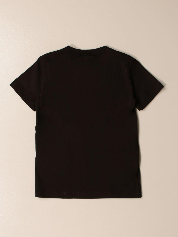 T-shirt Ea7: EA7 cotton T-shirt with logo print black 2