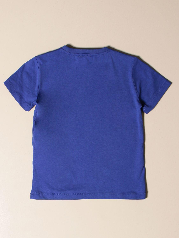 T-shirt Ea7: EA7 cotton T-shirt with logo print royal blue 2