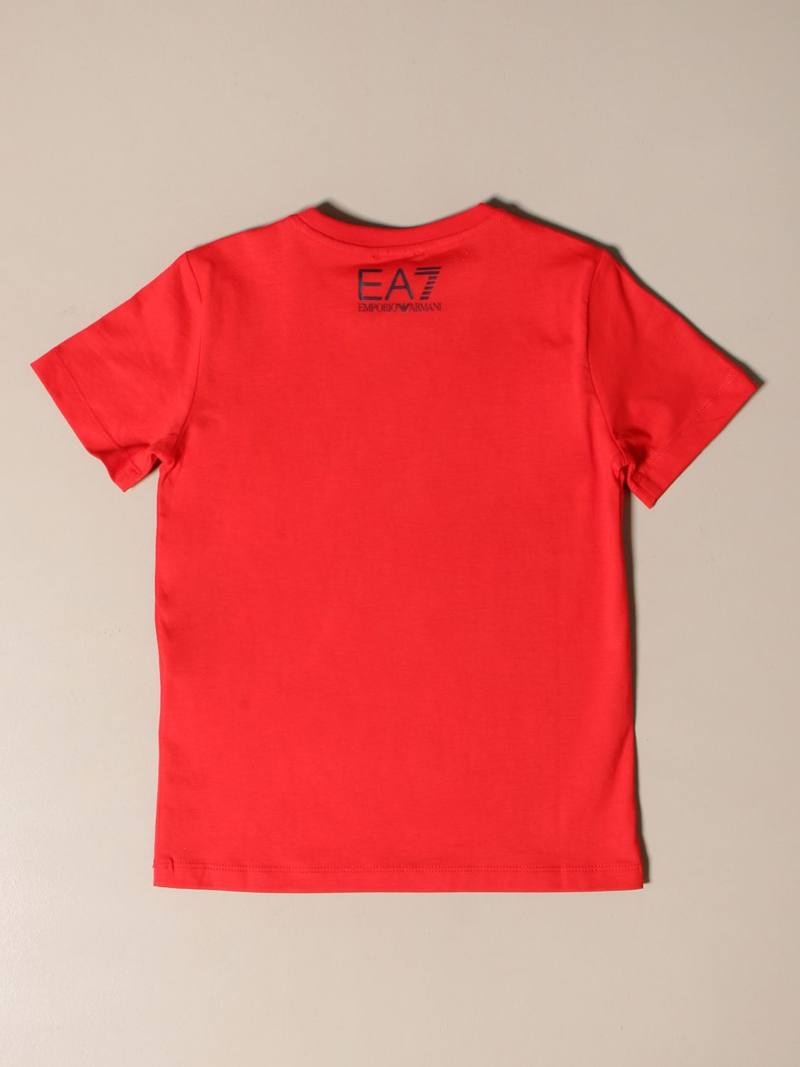 T-shirt Ea7: EA7 cotton T-shirt with logo print red 2