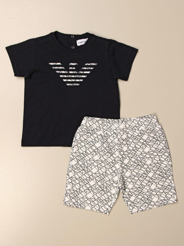 Jumpsuit Emporio Armani: Emporio Armani t-shirt + shorts set blue 1