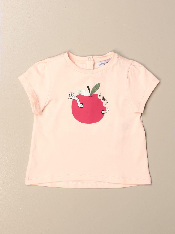 Camisetas Emporio Armani: Camisetas niños Emporio Armani rosa 1