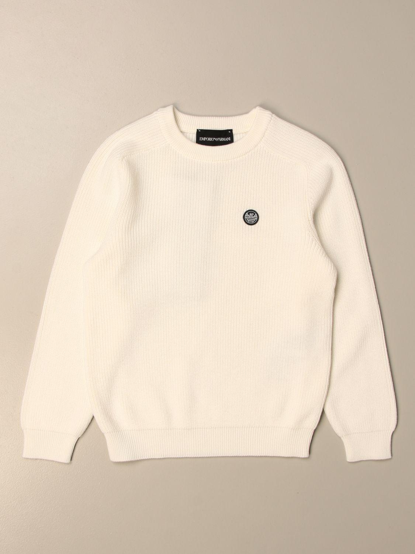 毛衣 Emporio Armani: 毛衣 儿童 Emporio Armani 白色 1