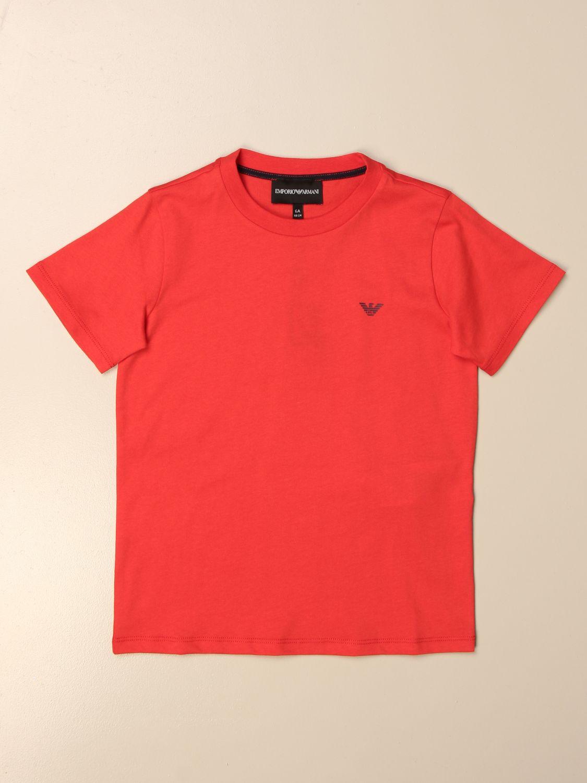 Camiseta Emporio Armani: Camiseta niños Emporio Armani rojo 1