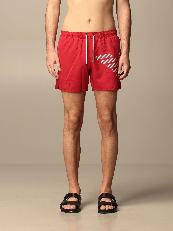 Bañador Emporio Armani Swimwear: Bañador hombre Emporio Armani Swimwear rojo 1